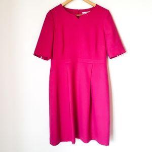 Boden   Dorchester Pink Wool Midi Dress 10 Long
